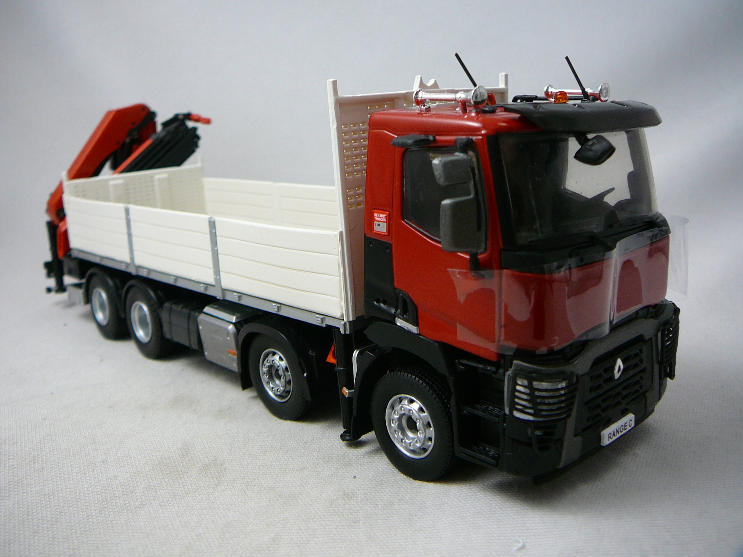 Renault Trucks C480 Plateau Grue Miniature 1 43 Eligor El