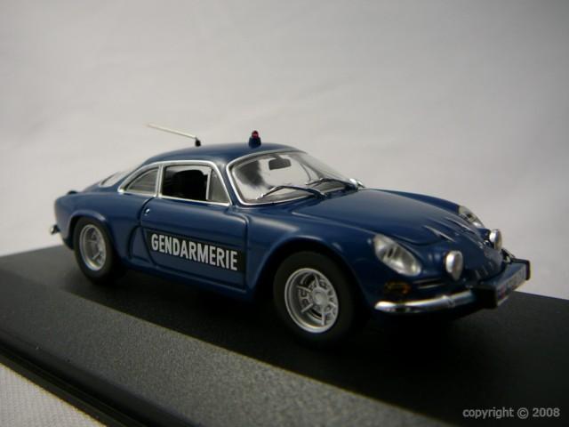 Alpine Renault A110 Gendarmerie 1971 Miniature 1/43 Minichamps