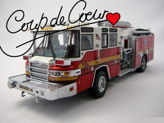 Miniature camion de pompier - Coup de cœur d'avrll