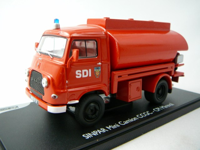 renault sinpar mini camion citerne pompiers cpi mireval miniature 1 43 eligor el 101363. Black Bedroom Furniture Sets. Home Design Ideas