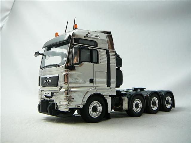 Man Tgx 8x4 Tracteur Routier Miniature Chrome 1 50 Nzg Nzg