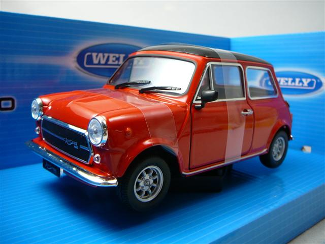 austin mini cooper 1300 miniature 1 24 welly wel 22496r. Black Bedroom Furniture Sets. Home Design Ideas