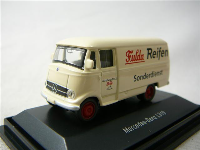 mercedes benz l319 fourgon fulda reifen miniature 1 87. Black Bedroom Furniture Sets. Home Design Ideas