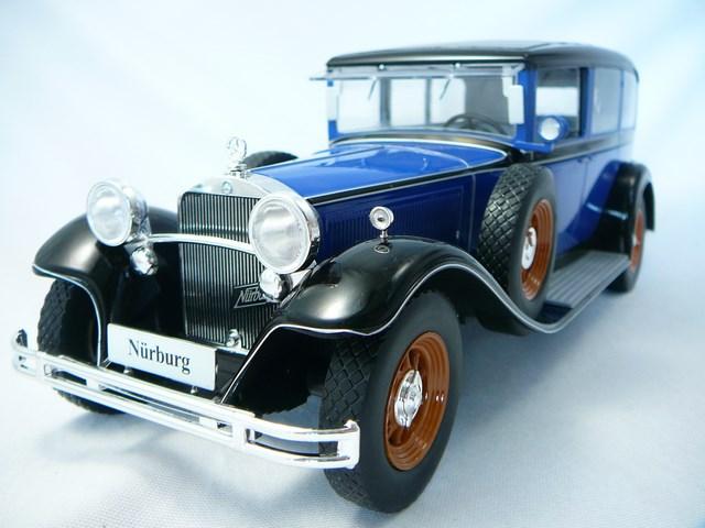 Miniature mercedes benz type nurburg 460 460k 1928 model for Miniature mercedes benz models