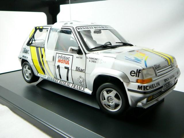 miniature renault super 5 gt turbo n 17 tour de corse 1989 norev. Black Bedroom Furniture Sets. Home Design Ideas