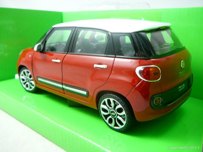 fiat 500l 2013 miniature 1 24 welly wel 24038 freeway01. Black Bedroom Furniture Sets. Home Design Ideas