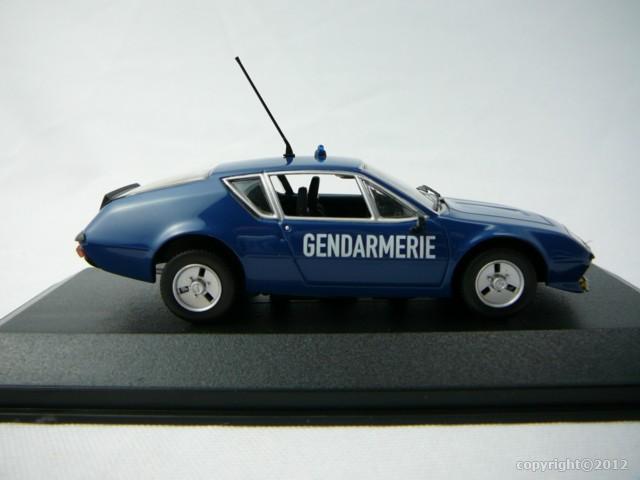 renault alpine a310 gendarmerie 1 43 minichamps min400113590 freeway01 voitures miniatures de. Black Bedroom Furniture Sets. Home Design Ideas