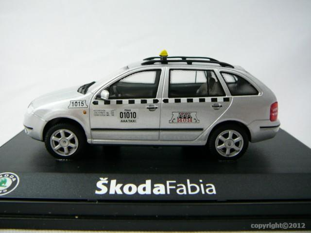 skoda fabia combi aaa taxi miniature 1 43 abrex abrx 143abx004xd freeway01 voitures miniatures. Black Bedroom Furniture Sets. Home Design Ideas