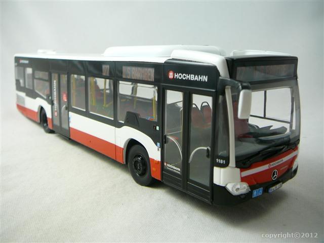 Mercedes benz citaro 2011 bus miniature 1 43 norev no for Miniature mercedes benz models