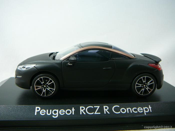 peugeot rcz r concept car salon paris 2012 miniature 1 43 norev no 473873 freeway01 voitures. Black Bedroom Furniture Sets. Home Design Ideas
