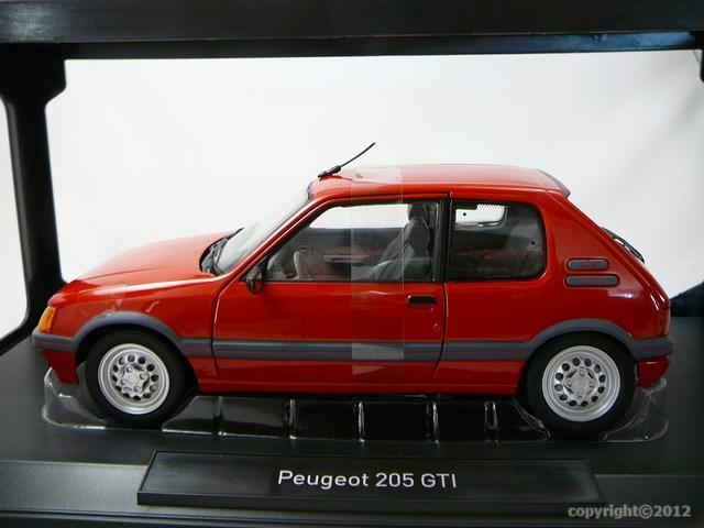 miniature voiture peugeot 205 gti 1 6 1988 norev. Black Bedroom Furniture Sets. Home Design Ideas