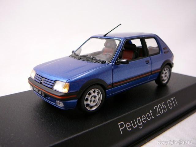 miniature voiture peugeot 205 gti 1 9 1992 norev. Black Bedroom Furniture Sets. Home Design Ideas