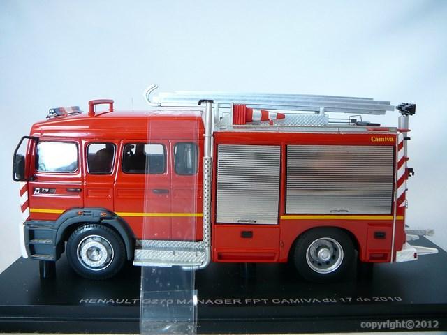 miniature camion renault g270 manager fpt camiva pompiers 17 royan alerte. Black Bedroom Furniture Sets. Home Design Ideas