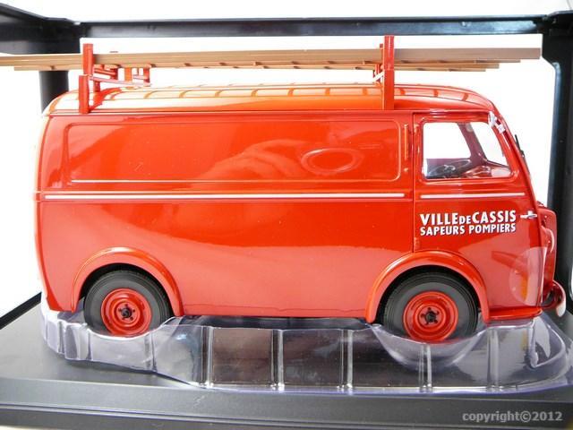 Miniature peugeot d3 fourgon pompiers ville de cassis norev for Garage peugeot cassis