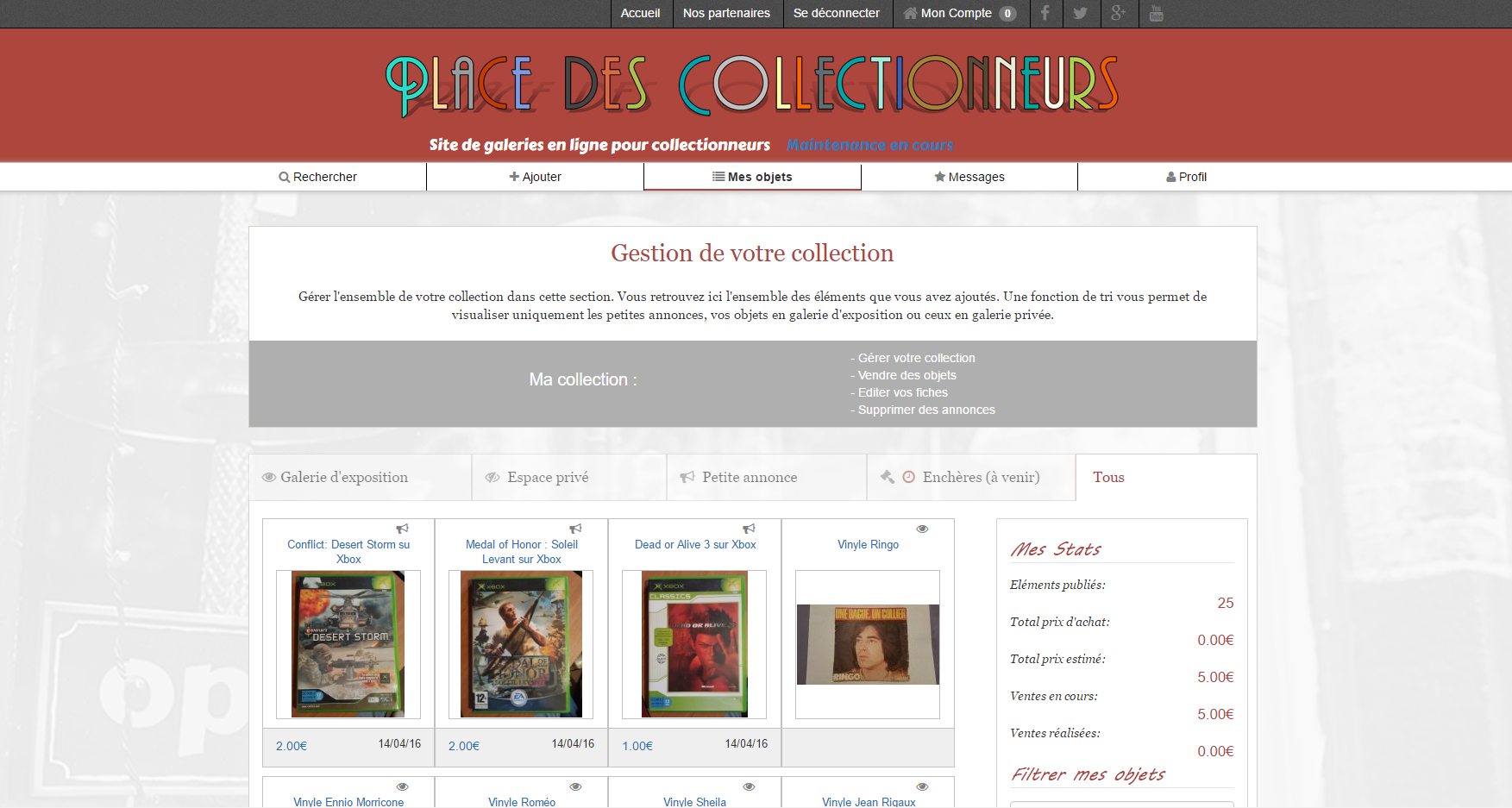 gestion des collection