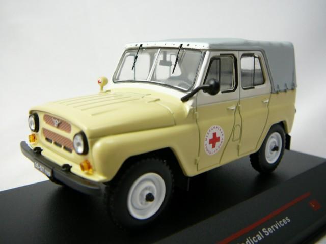 Modellauto UAZ 469BG 1977 Rotes Kreuz 1:43