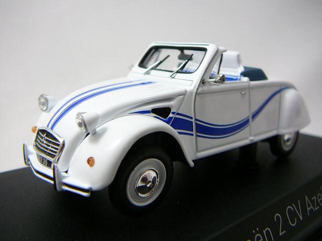 miniature voiture citroen 2cv cabriolet azelle 1990 norev
